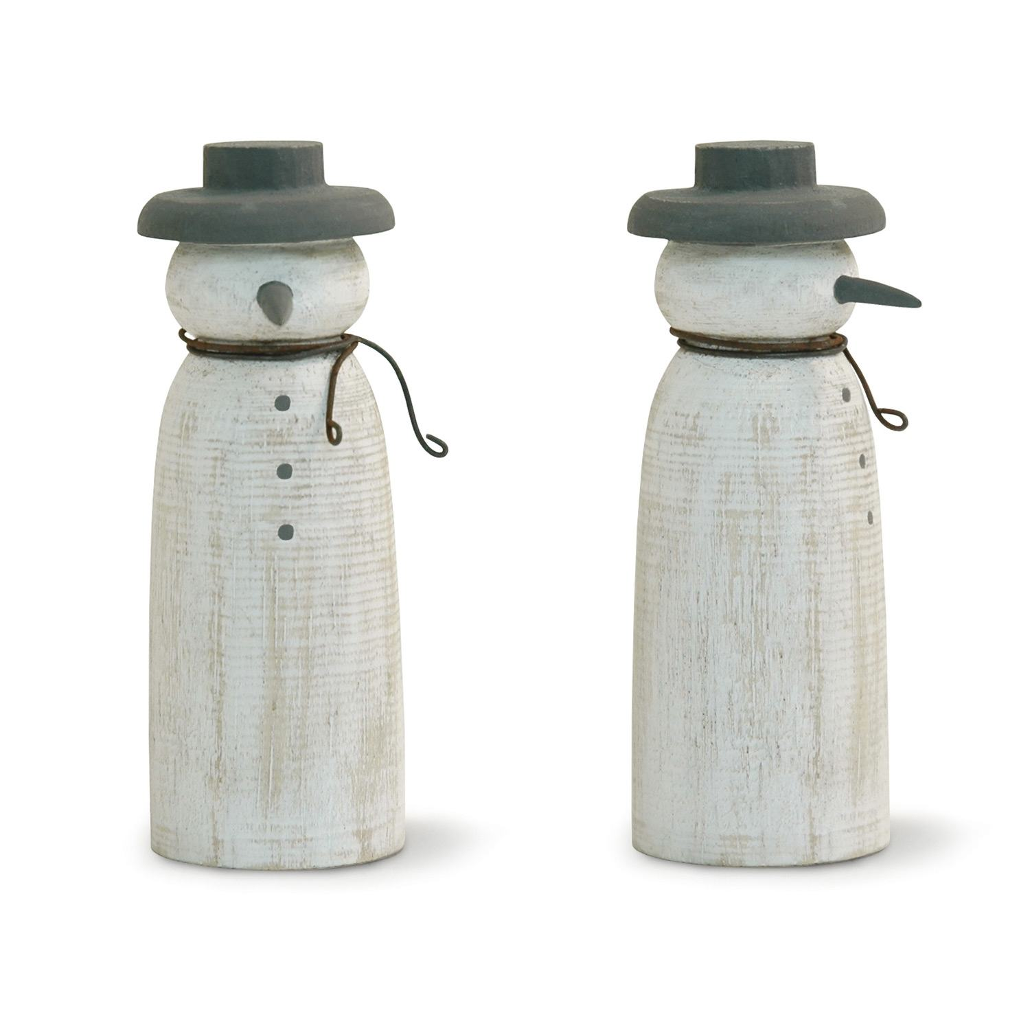 East Of India Large Wooden Snowman Temptation Gifts