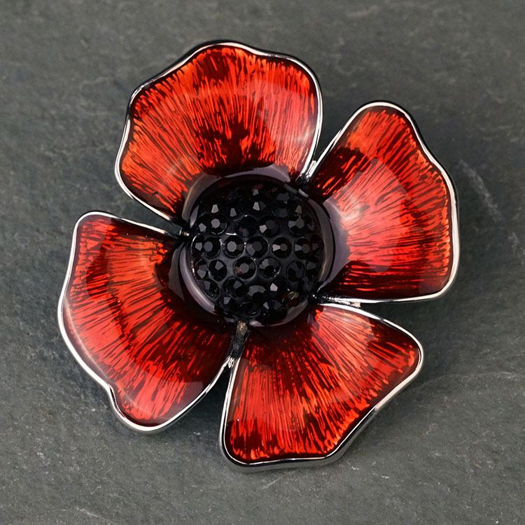 equilibrium delicate poppy brooch