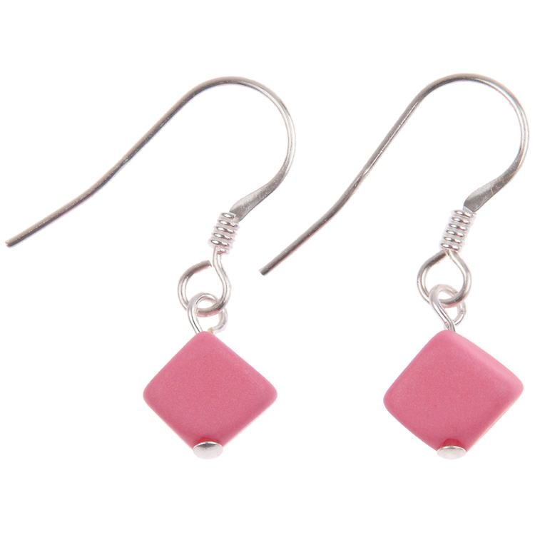 carrie elspeth pastel cubic pink earrings