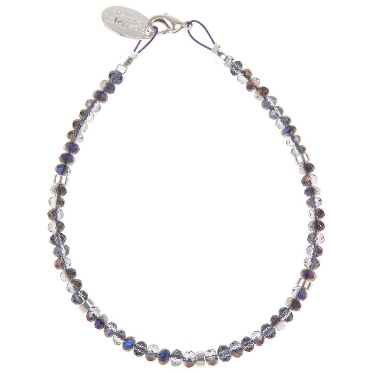 carrie elspeth amethyst mini crystals bracelet