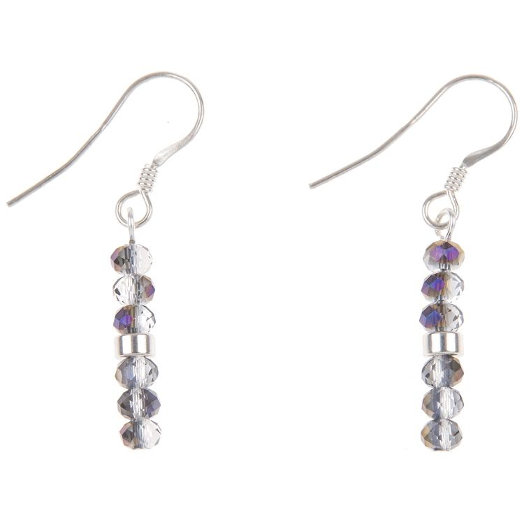 carrie elspeth amethyst mini crystals earrings