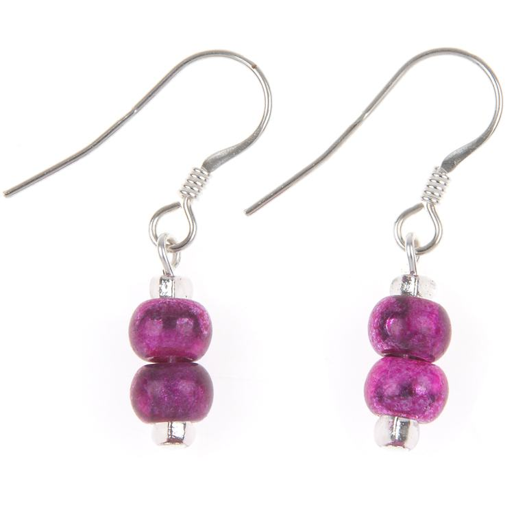 carrie elspeth pink bright carnival earrings