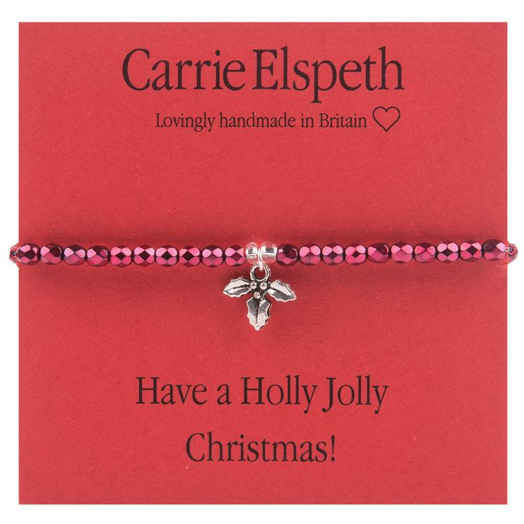 carrie elspeth holly jolly christmas sentiments bracelet