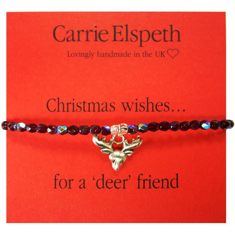 carrie elspeth christmas wishes sentiment bracelet