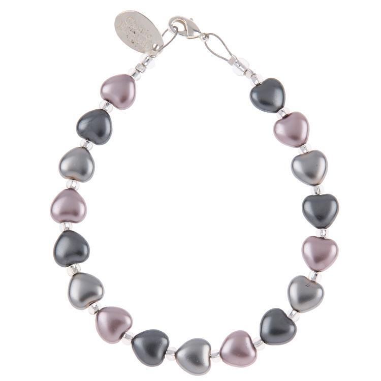 carrie elspeth lilac satin heart bracelet