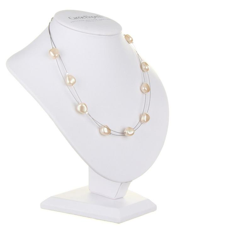carrie elspeth ivory pearl shimmer necklace
