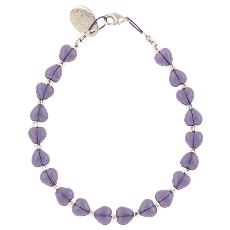 carrie elspeth purple kissing hearts bracelet