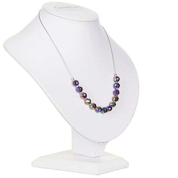 carrie elspeth rainbow faceted hematite necklace