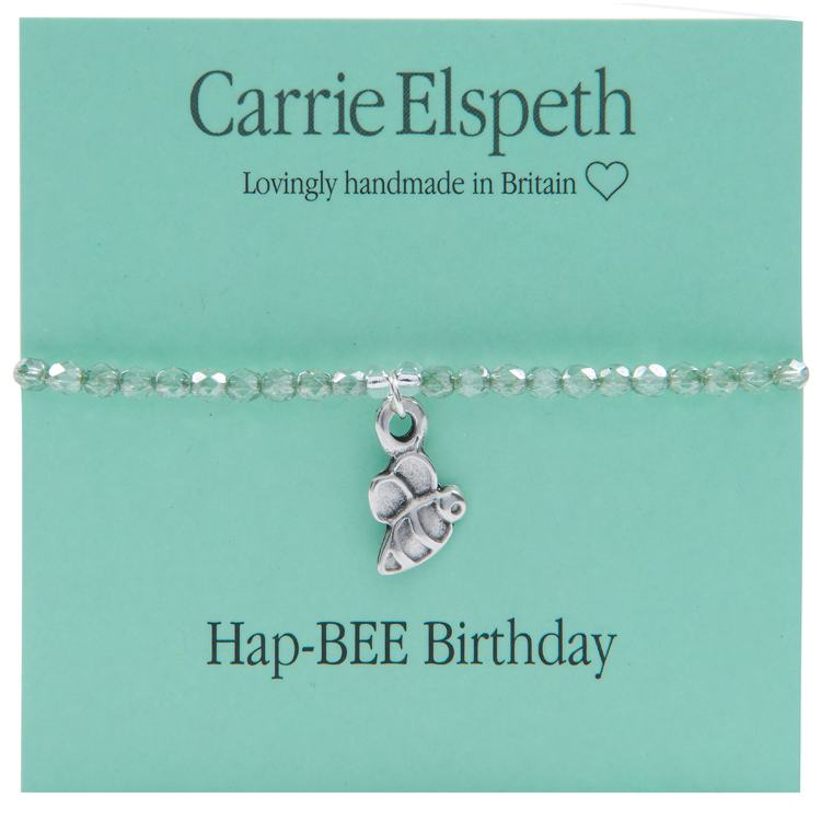 carrie elspeth hapbee birthday sentiment bracelet