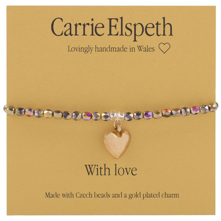carrie elspeth with love sentiment bracelet
