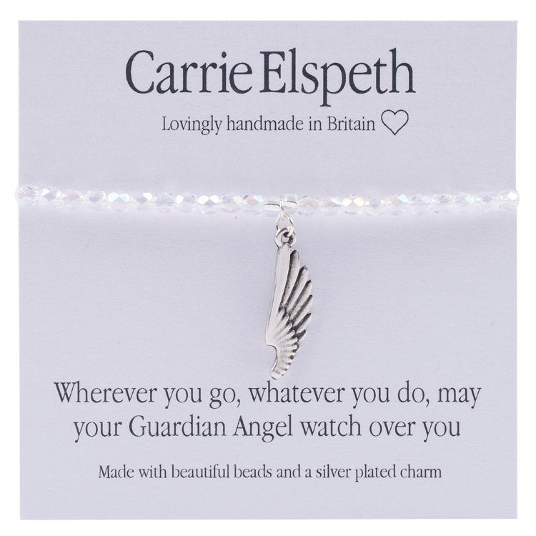 carrie elspeth angel wings sentiment bracelet