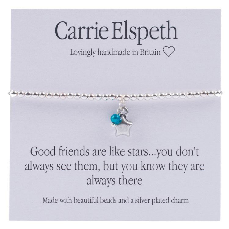 carrie elspeth good friends sentiment bracelet