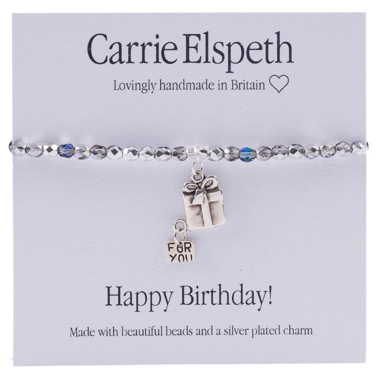 carrie elspeth happy birthday sentiment bracelet