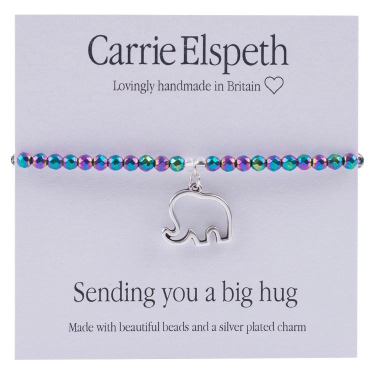 carrie elspeth sending you a big hug sentiment bracelet