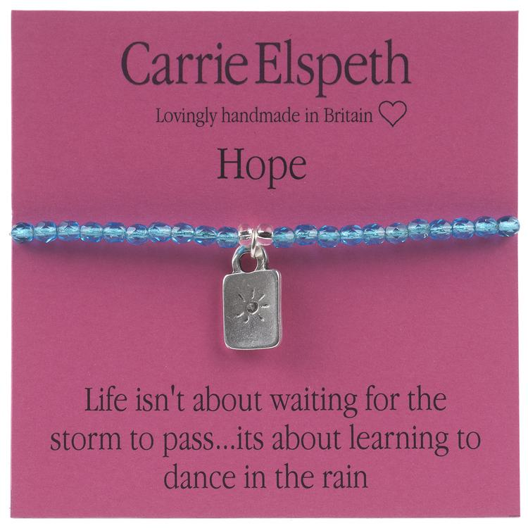carrie elspeth hope sentiment bracelet