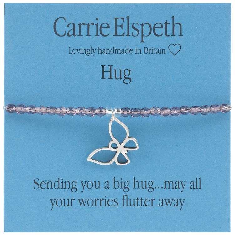 carrie elspeth hug sentiment bracelet