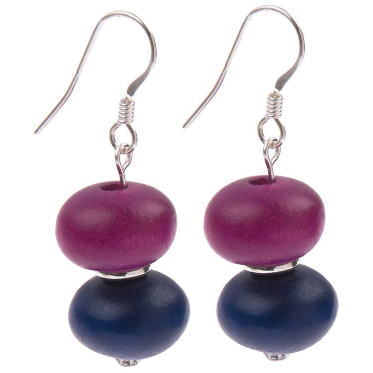 carrie elspeth abacus purple/navy earrings