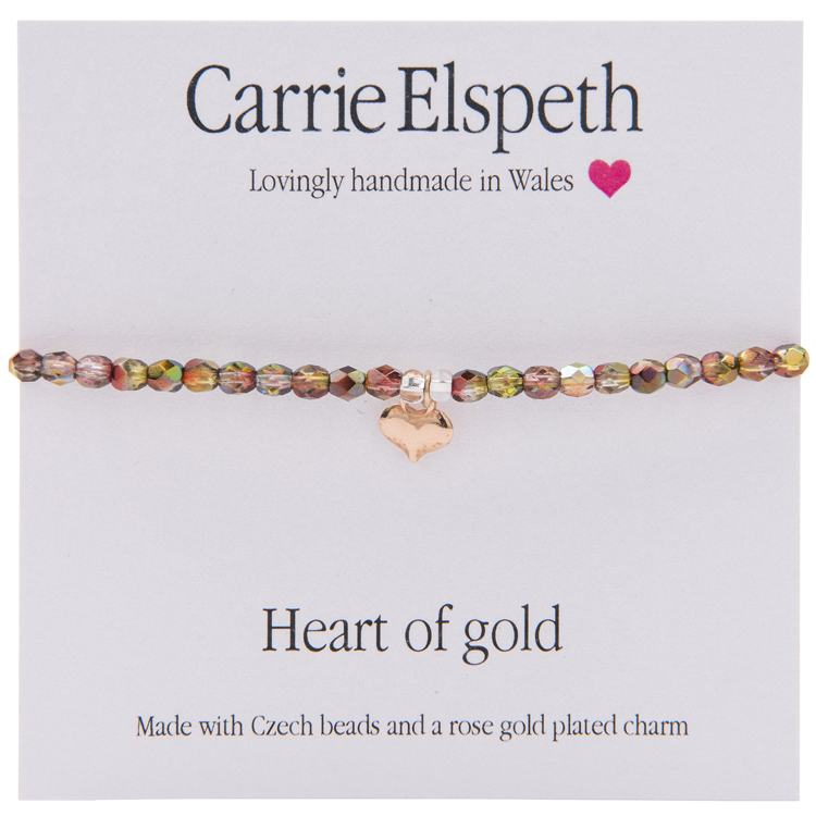 carrie elspeth heart of gold sentiment bracelet