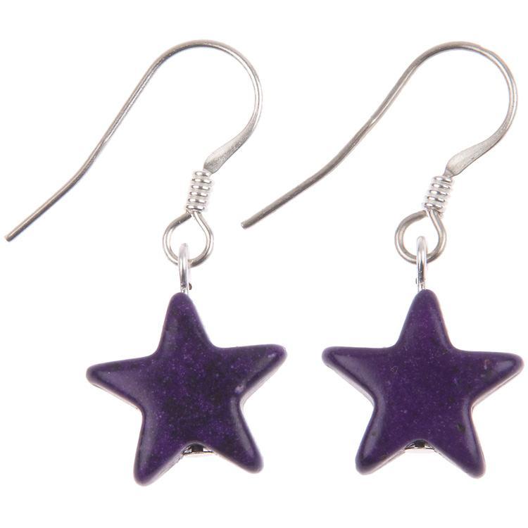 carrie elspeth purple stargazer earrings
