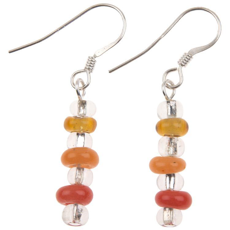 carrie elspeth rainbow loops links earrings  orange/yellow