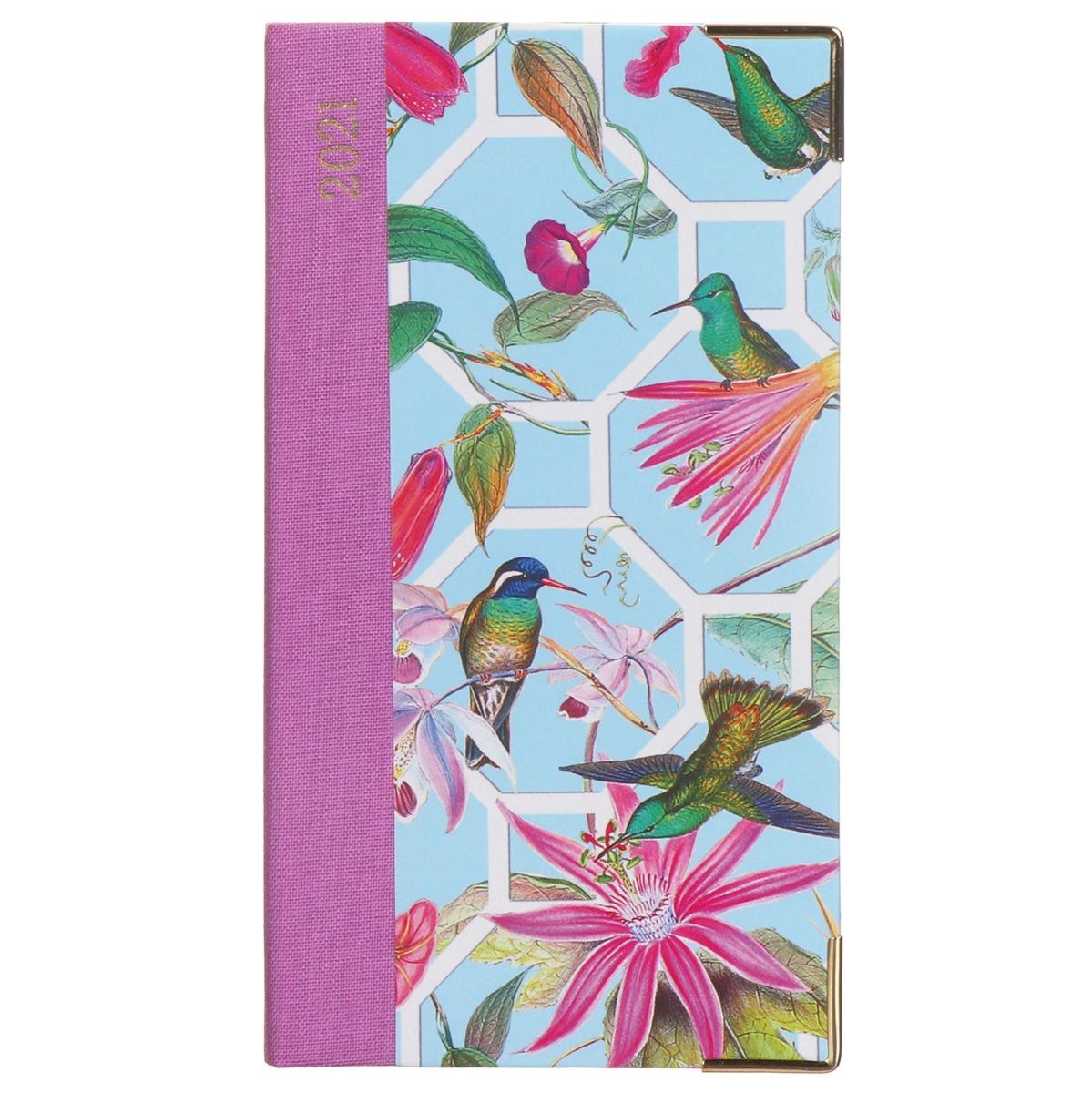 Caspari Hummingbird Trellis 2021 Slim Diary