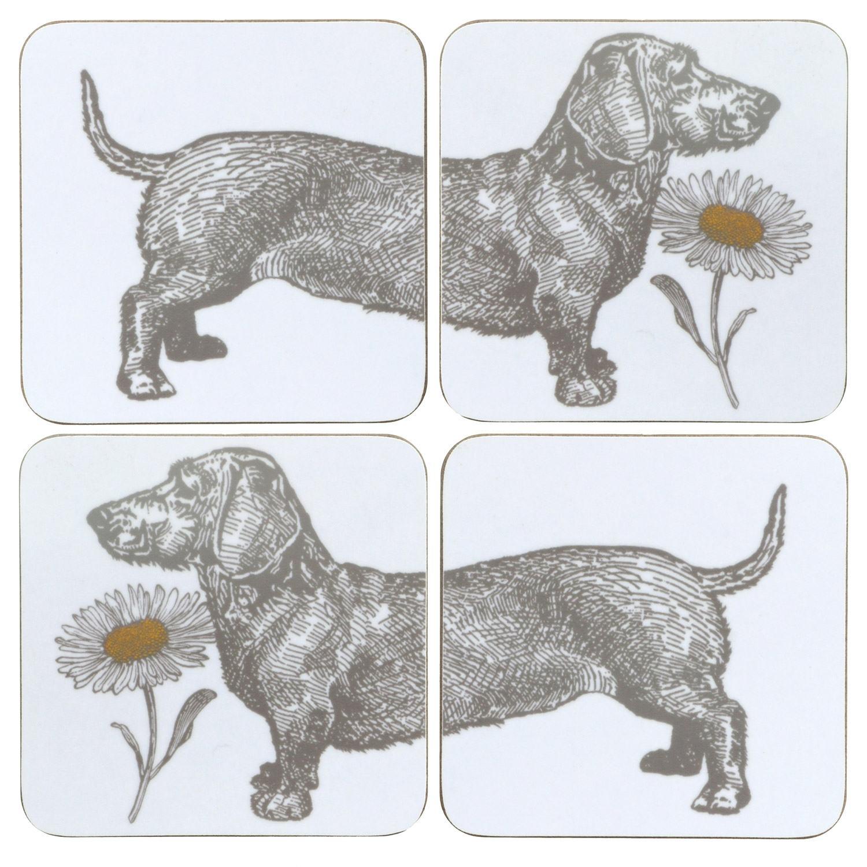 Thornback & Peel Dog & Daisy Set of 4 Coasters