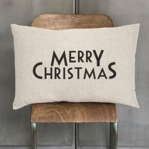 'Merry Christmas' Long Cushion