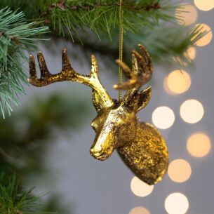 Antique Gold Stag Tree Decoration