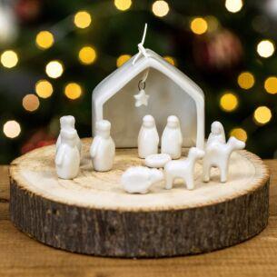 East of India Porcelain Nativity Set