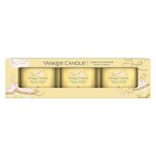 Vanilla Cupcake Set of Three Filled Votives
