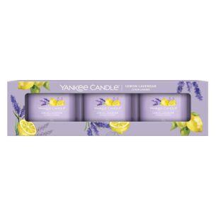 Lemon Lavender Set of Three Filled Votives
