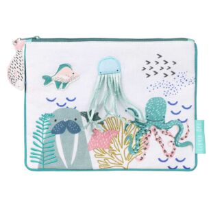 Little Arc Under The Sea Quilted Pouch