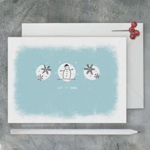 East of India 'Let It Snow' Christmas Card