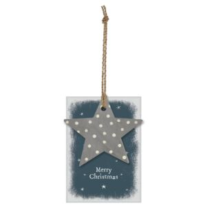 East of India 'Merry Christmas' Star Gift Tag