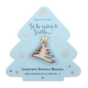 Season to Sparkle Tree Brooch