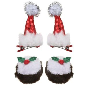 Assorted Pack of Two Christmas Hairclips