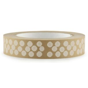 Christmas White Dots Wide Adhesive Tape – 50m