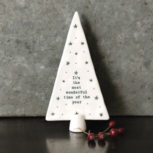 East of India 'Most Wonderful Time of The Year' Large Standing Porcelain Tree