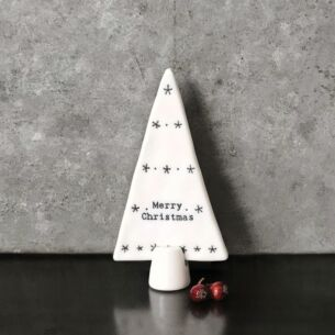 'Merry Christmas' Small Standing Porcelain Tree