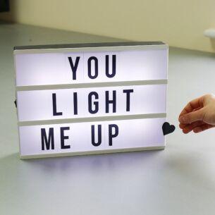 Light Up Message Box