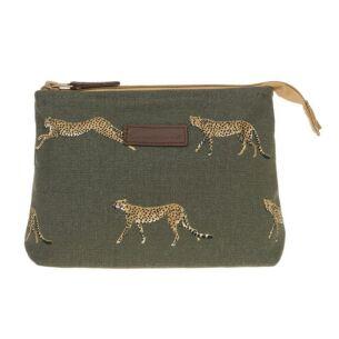 ZSL Cheetah Small Canvas Makeup Bag