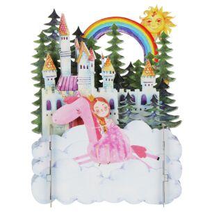 Princess and Castle 3D Pop Up Card