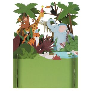 Animals in The Jungle 3D Pop Up Card