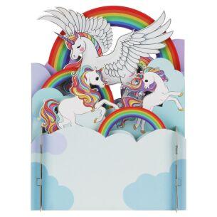 Unicorn and Rainbow 3D Pop Up Card