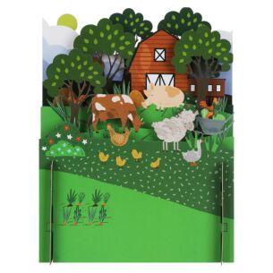 Animal Farm 3D Pop Up Card
