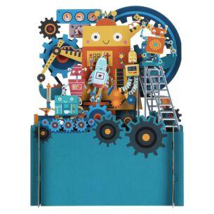 Robots 3D Pop Up Card