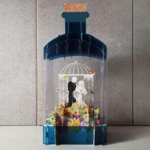 Bride and Groom 3D Wedding Keepsake Art Bottle