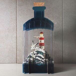 Lighthouse 3D Keepsake Art Bottle