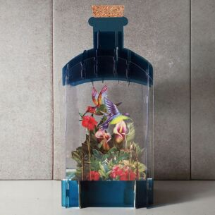 Hummingbird 3D Keepsake Art Bottle