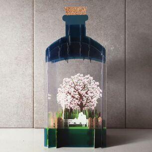 Cherry Blossom 3D Keepsake Art Bottle
